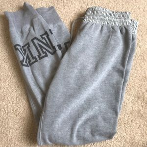 grey sweats from victoria secret